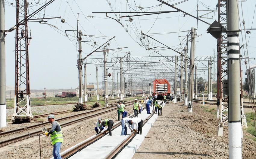 Karrar-Kürdəmir mənzilində 10 km-lik dəmir yolu əsaslı təmir olunur