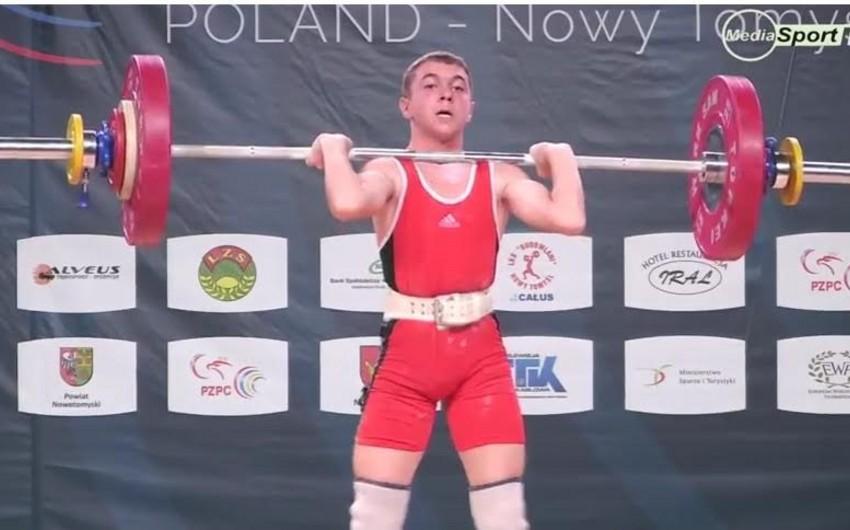 Azərbaycanın ağır atleti Rüstəm Qasımov Avropa çempionatının bürünc medalını qazanıb - FOTO