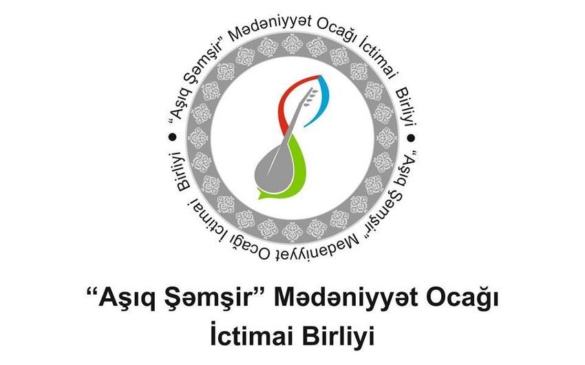 """""""Aşıq Şəmşir"""" Mədəniyyət Ocağı İctimai Birliyi yardım kampaniyası həyata keçirir"""