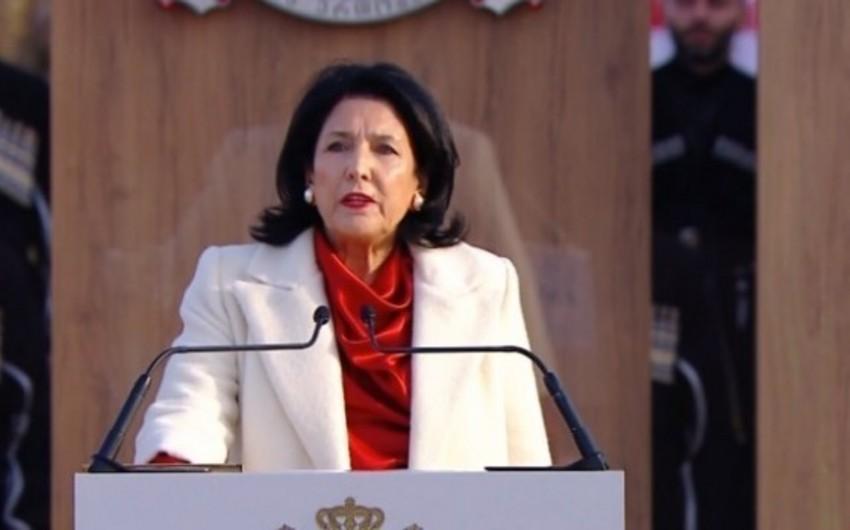 Gürcüstan prezidenti parlamentdə illik hesabat verəcək