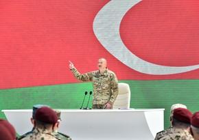 İlham Əliyev: Ermənistan ordusunda 10 min fərari olub, özləri bunu etiraf ediblər