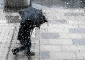 Rain predicted tomorrow