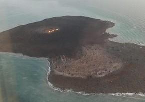 Nazirlik: Daşlı ada çoxdan mövcuddur və vulkan nəticəsində əmələ gəlib