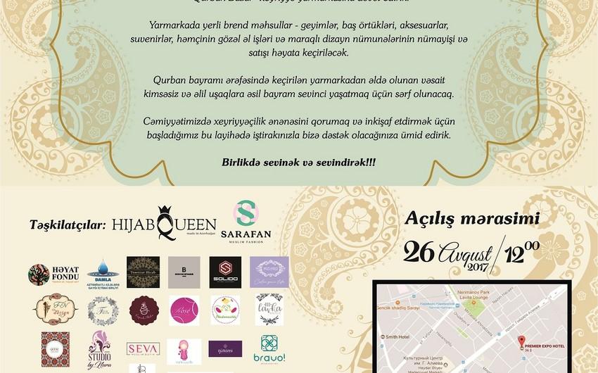 В Баку организуют благотворительную ярмарку под названием Гурбан базар - ВИДЕО
