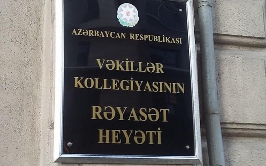 Vəkillər Kollegiyasının sədrliyinə 4 nəfərin namizədliyi irəli sürülüb - SİYAHI