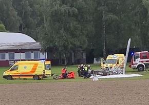 Крушение самолета в Латвии, есть погибший и раненый