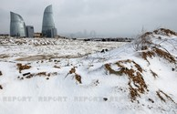 First snow in Baku - PHOTOS