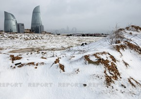 First snow in Baku - PHOTOS