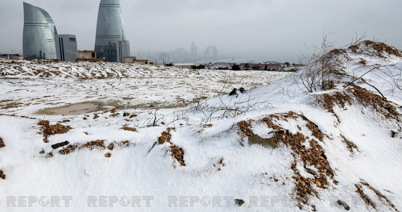 First snow in Baku - PHOTO REPORT