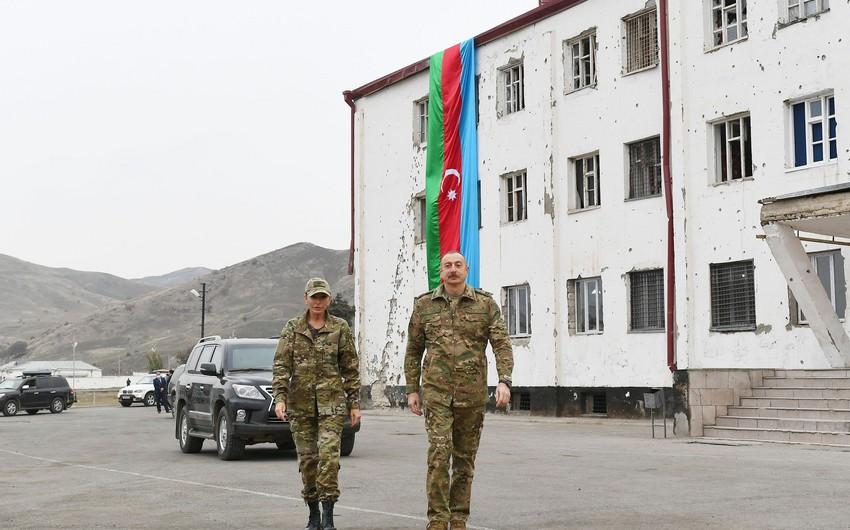 Ильхам Алиев и Мехрибан Алиева совершили поездку в Физули и Джебраил