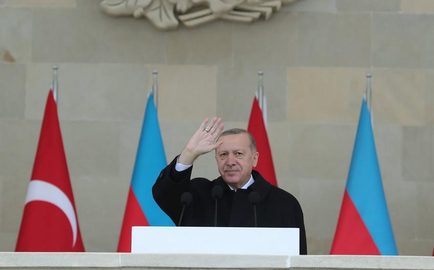Türkiyə Prezidenti: Xarıbülbül Azərbaycan ərazilərinin azadlığının simvoluna çevrilib