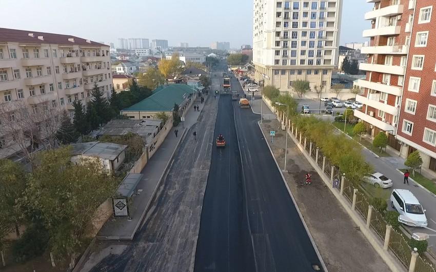 Nərimanov rayonunda problemli yolların təmirinə başlanılıb