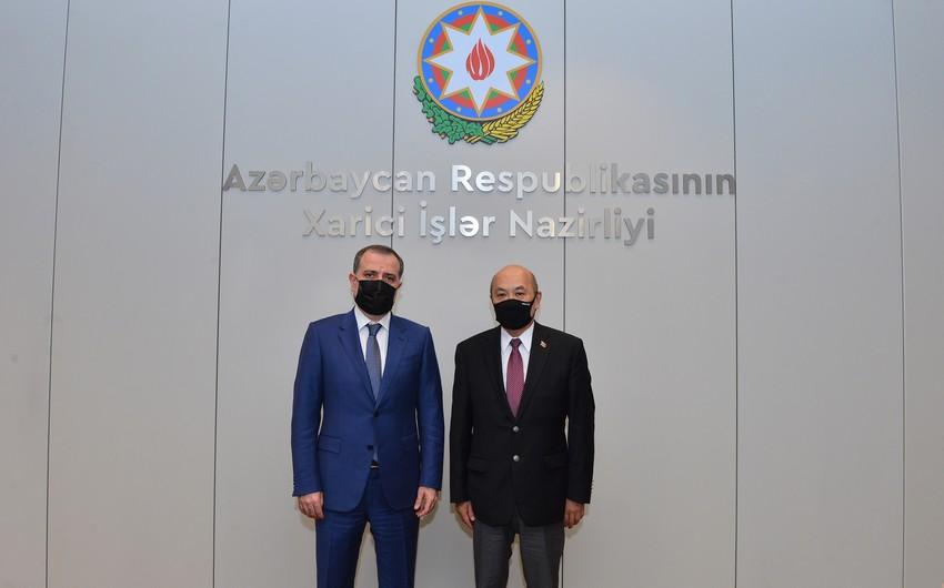 Ceyhun Bayramov Monqolustan səfiri ilə görüşüb