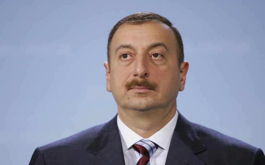 Президент Ильхам Алиев прибыл в Гусар