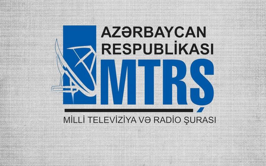 MTRŞ bəzi televiziya və radiolara xəbərdarlıq edib