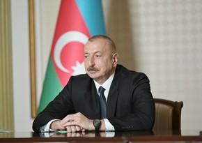 """Dövlət başçısı: """"Dəmir yollarının səmərəliliyinə görə Azərbaycan dünyada 11-ci yerdədir"""""""