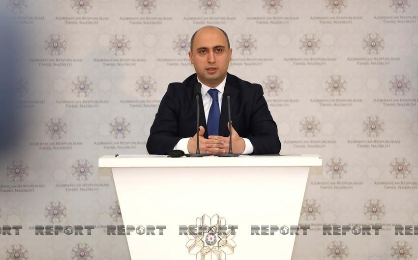 """Emin Əmrullayev: """"Son üç ildə 27 197 müəllim müsabiqəvasitəsilə işə qəbul olunub"""""""