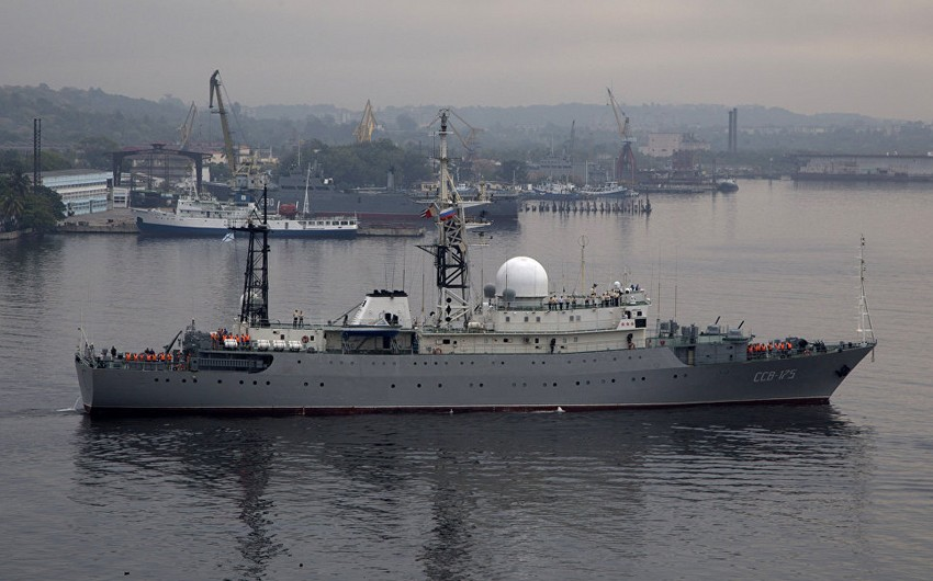 ABŞ sahillərində Rusiyanın kəşfiyyat gəmisi müşahidə olunub