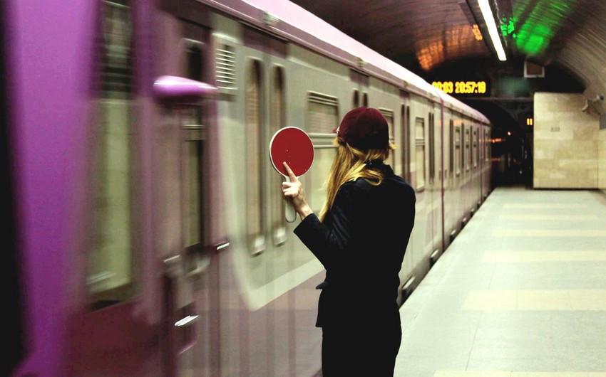 Metronun C.Cabbarlı-Xətai xəttində sərnişinlər diaqnostika qatarları ilə gəliblər