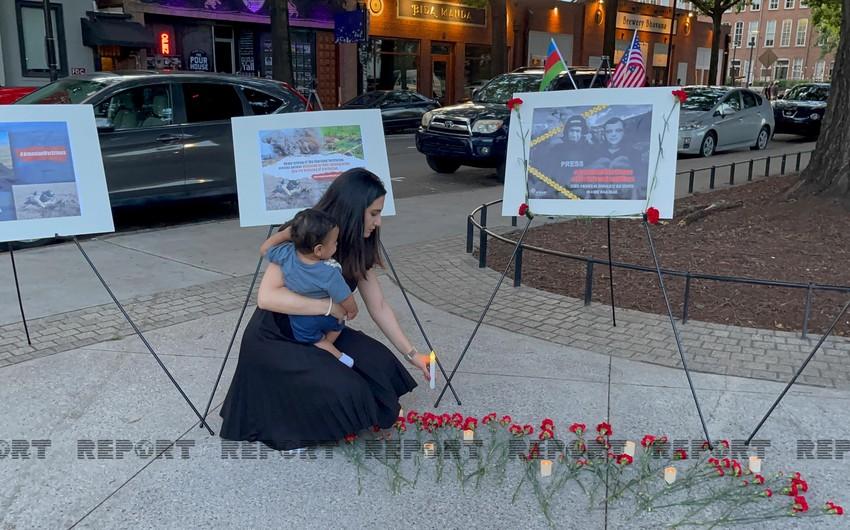 ABŞ-da şəhid jurnalistlərin xatirəsi anılıb - VİDEO