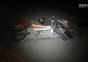 Bakıda motosiklet qəza törətdi, sürücü yaralandı