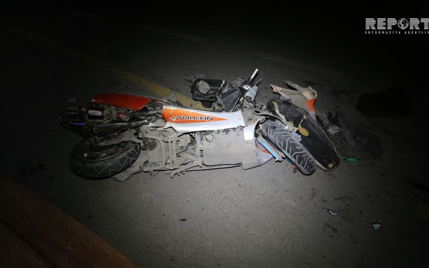 Bakıda motosiklet qəzaya uğradı, xəsarət alanlar var
