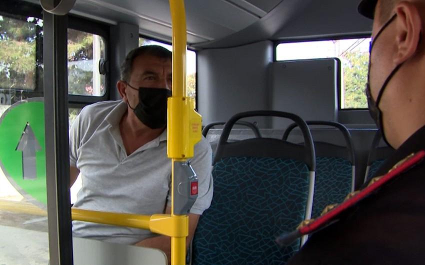 Polis Bakıda reyd keçirib, avtobus sürücülərinə xəbərdarlıq edilib