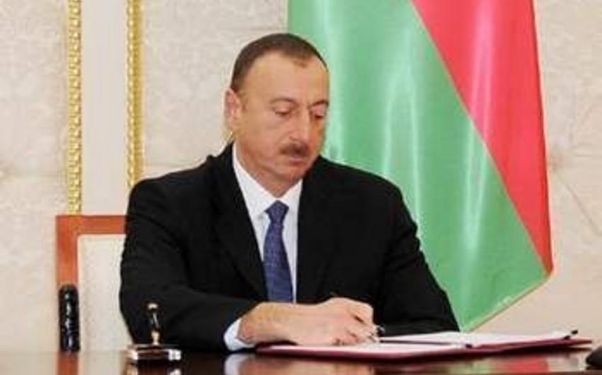 Azərbaycan Prezidenti İlham Əliyev yeni sərəncam imzalayıb