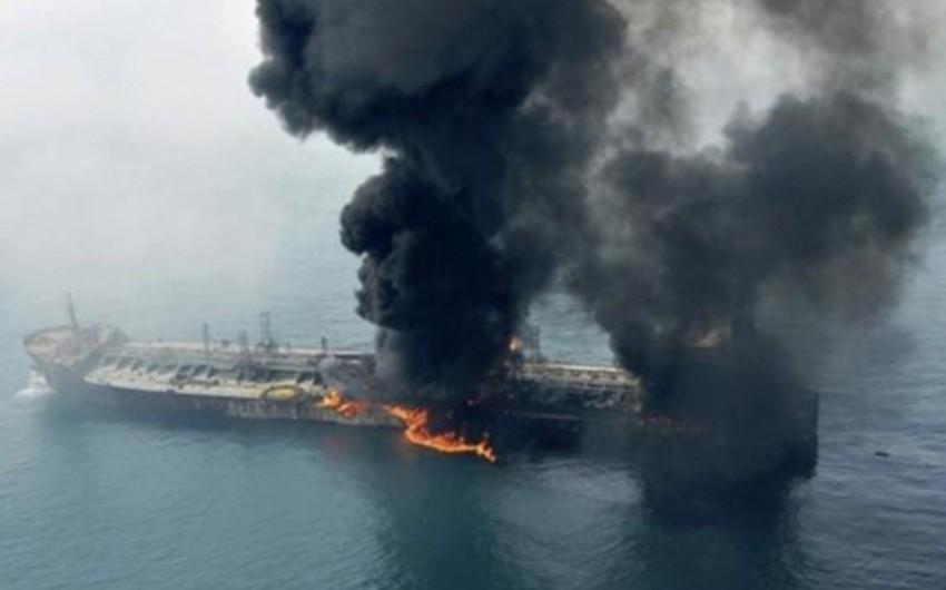 Xəzər dənizində yanan Rusiya gəmisinin ekipaj üzvləri evakuasiya edilib