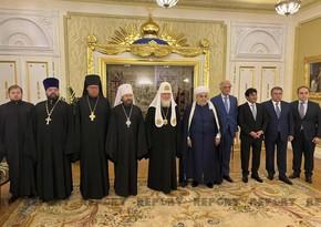 Azərbaycan və Rusiyanın dini liderləri arasında görüş keçirilib