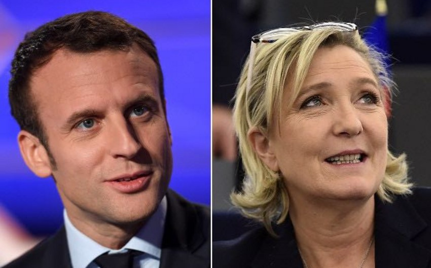Fransada prezident seçkilərinin I turunun qalibləri Emmanuel Makron və Mari Le Pen olub