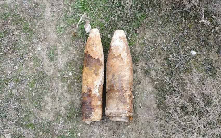 Sumqayıtda 2 ədəd top mərmisi tapılıb