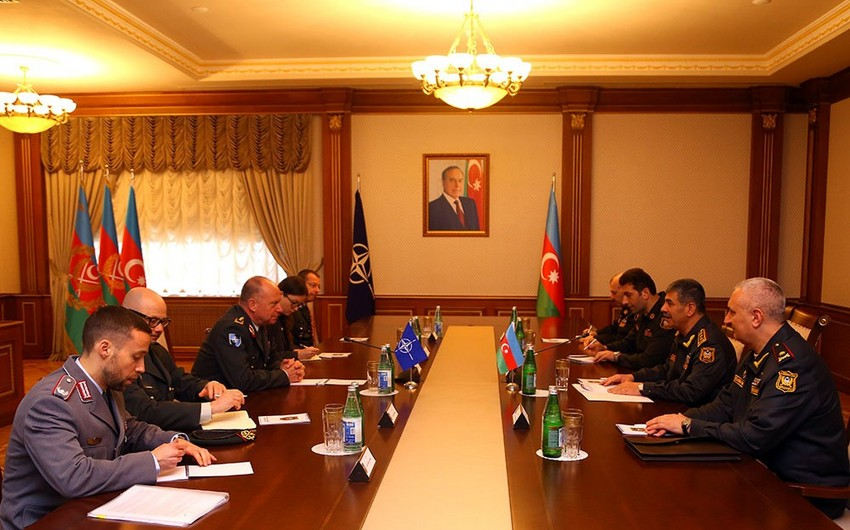 Zakir Hasanov meets with Director General of NATO's International Military Staff