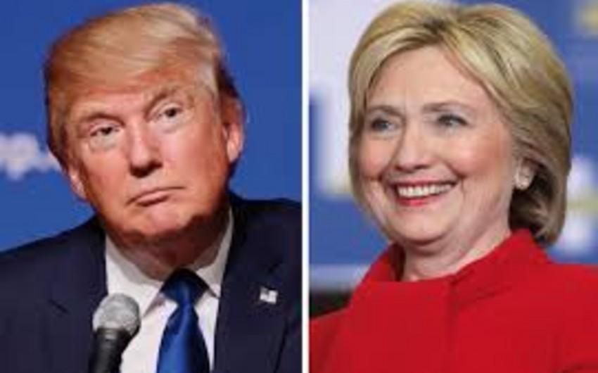 Sorğu: Hillari Klinton Donald Trampı cəmi 2% qabaqlayır