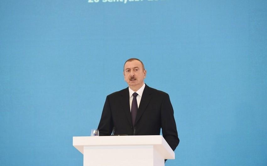 Президент Ильхам Алиев: Доходы от продажи нефти и впредь будут направляться на социальные вопросы, диверсификацию экономики