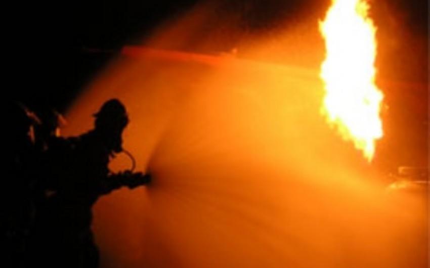 Bakıda avtodayanacaqda baş verən yanğın nəticəsində bir nəfər ölüb