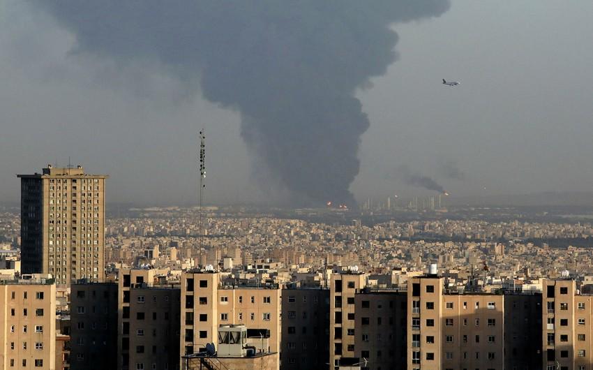 Tehranda neft emalı zavodunda yanğın olub, 11 nəfər yaralanıb