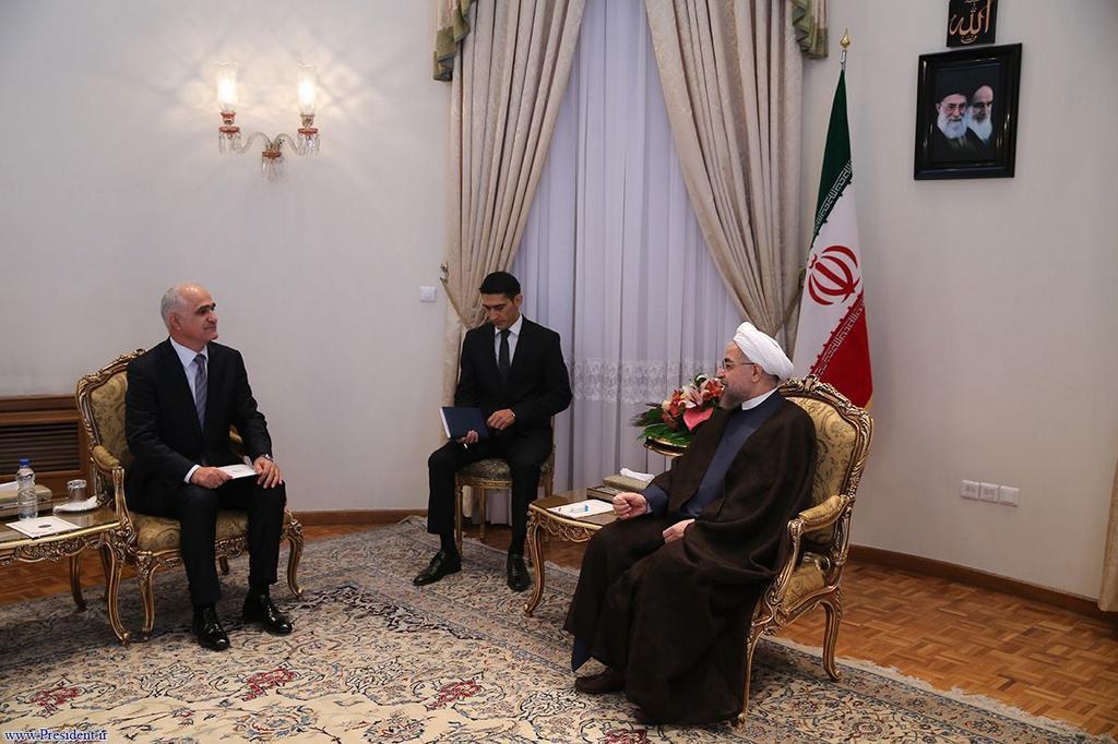 Министр экономики и промышленности Азербайджана встретился с президентом Ирана