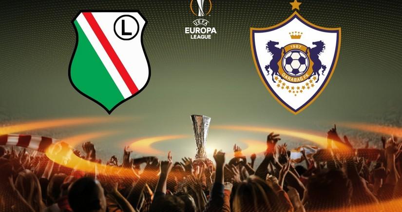 Legiya - Qarabağ matçında ikinci hissə başladı