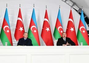 """Dövlət başçısı: """"Bu gün Türkiyə-Azərbaycan birliyi, qardaşlığı dünya miqyasında önəmli faktora çevrilib"""""""