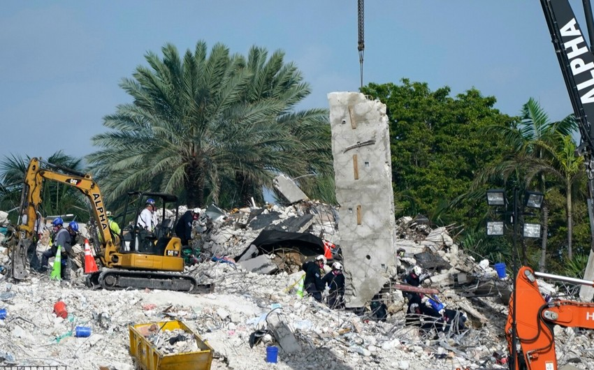 Floridada çökən binada ölənlərin sayı 28-ə yüksəldi