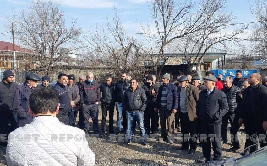 Проживающие в грузинском селе азербайджанцы провели акцию протеста