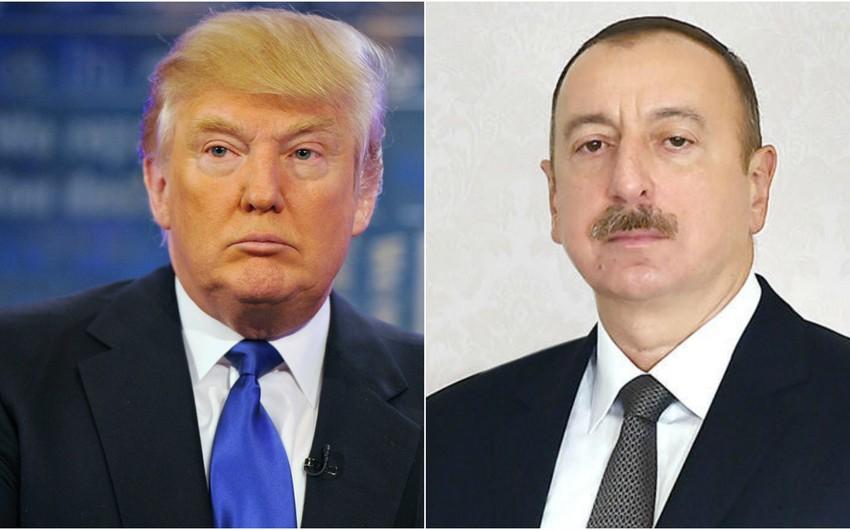 Donald Tramp Prezident İlham Əliyevə təbrik məktubu göndərib