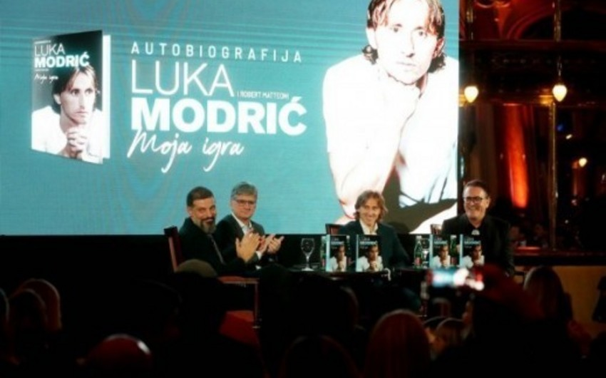 """Luka Modriç """"Mənim oyunum"""" adlı avtobioqrafik kitabının təqdimatını keçirib"""