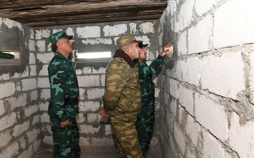 Elchin Guliyev and Khanlar Valiyev visit border with Armenia