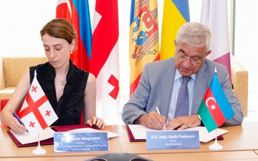 ADA və Gürcüstanın Diplomatik Təhsil və Araşdırma İnstitutu arasında memorandum imzalanıb