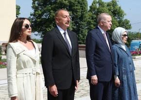 Президенты Азербайджана и Турции побывали на роднике Хан гызыв Шуше