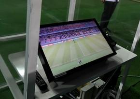 Bakıdakı oyunda VAR sistemindən istifadə edildi