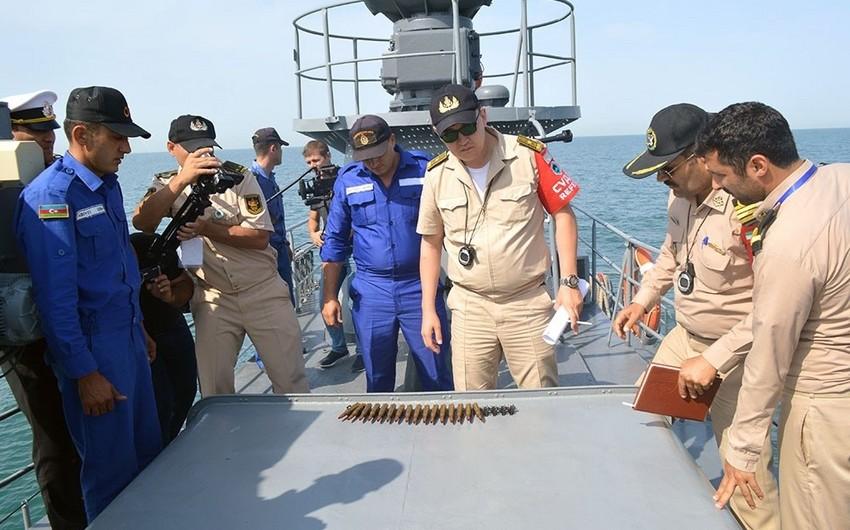 Azərbaycan, Rusiya, Qazaxıstan və İran hərbi dənizçiləri artilleriya atışları yerinə yetiriblər