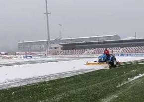 Qəbələ şəhər stadionundakı son vəziyyət açıqlandı